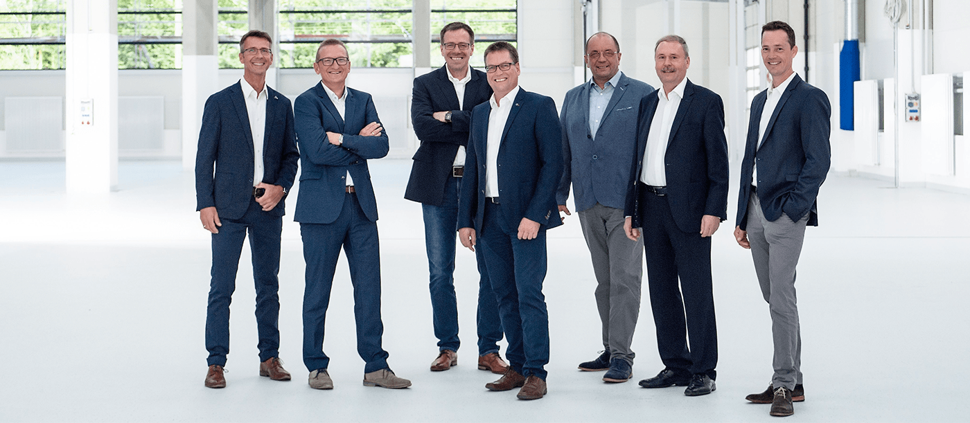 Management team in Franke headquarters Germany