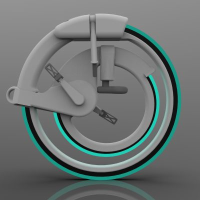 Cyclopic bike with hubless wheel