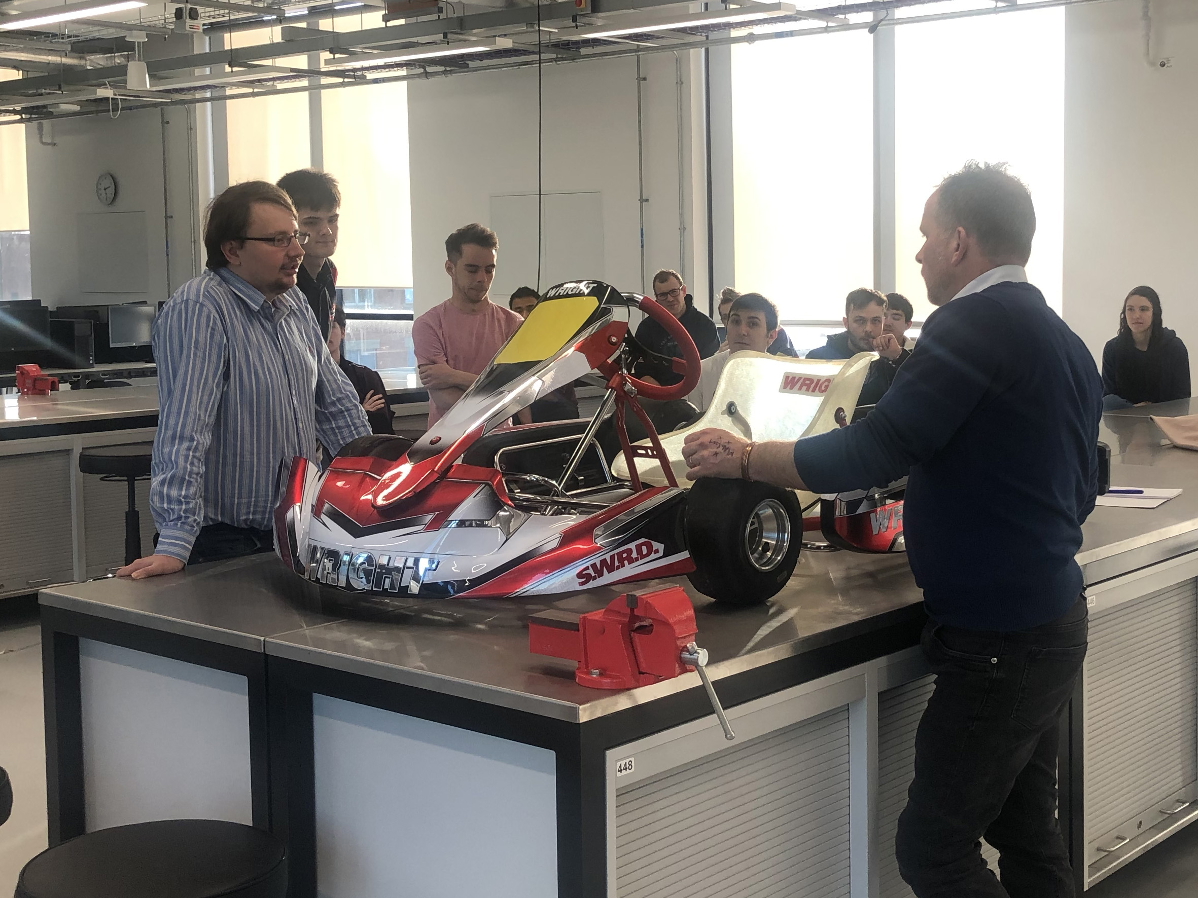 Phil Worden with the Engineering Masters students of UCLan