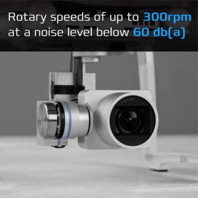 Close up of rotary camera