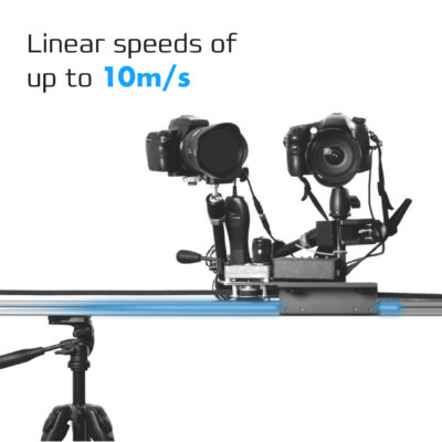 Camera sliding along linear rail